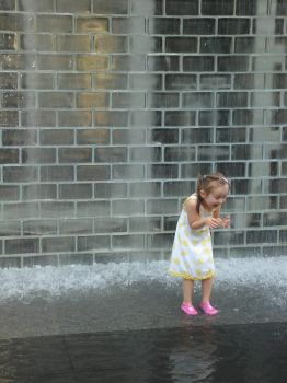 Hot Chicago Day and Child by adamsmith75