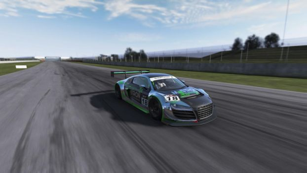R8 Racer in Chrome, Black and Green by SonicAndTailsfan64