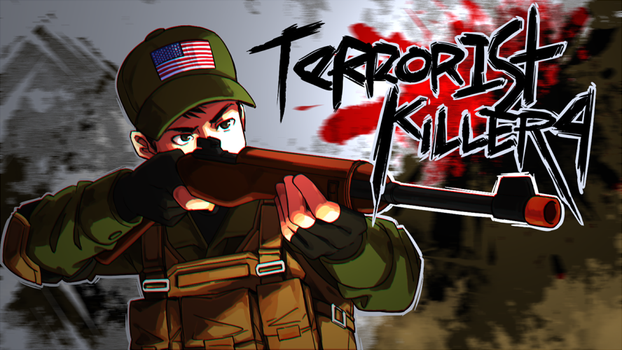 TerroristKiller4 Twitch banner commission by GReih