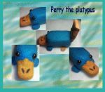 Perry the platypus Felt by Fallonkyra
