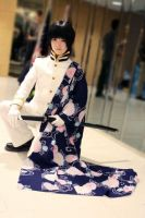 The flowing kimono with chrysanthemums... by ii-Sushi