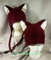 Burgundy foxes 2 by The-Cute-Storm