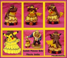 Princess Belle Custom Pikachu Amiibo Version 2 by pikabellechu