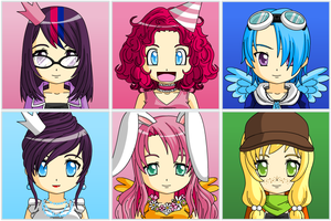 MLP FiM - Anime Face Maker 2 by Tara012