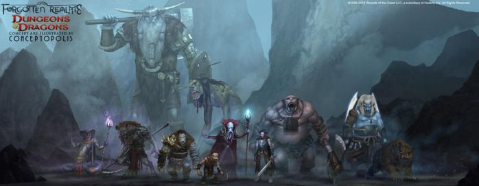 Forgotten Realms: Monsters by Conceptopolis