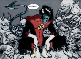 Nightcrawler colored by scarecrowhassan