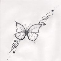 little butterfly tattoo by Angel-with-a-past