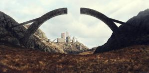 Castle Arches by Pipera