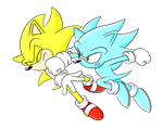 Super Sonic vs Nazo by Sonicguru