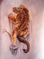 climbing tiger by metapharistic