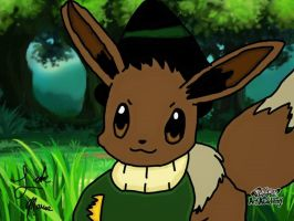 Eevee as Scarecrow from The Wizard of Oz by TheWizardofOzzy