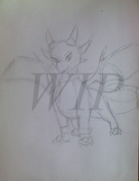 WIP - Cynder the Dragon by Myxprint