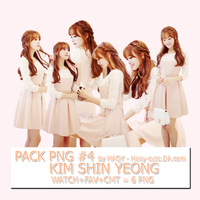 Pack Png #4 - Kim Shin Yeong by Haqy-cute