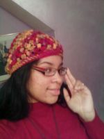Puff Stitch Hat: fall colors by 329