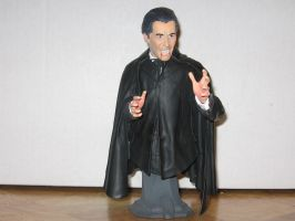 Christopher Lee as Dracula Bust 1 by RoyPrince