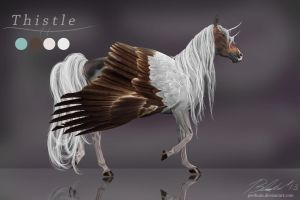 COMMISSION Thistle ref. by Penhuin