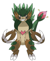 Collaboration Fakemon Thorncupin by Phatmon