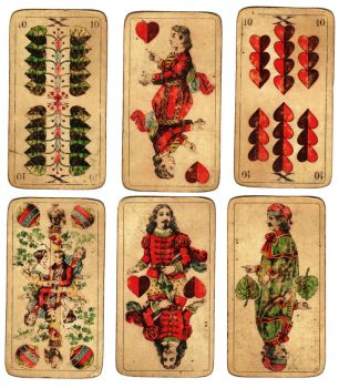 Old German Playing Cards by ValerianaSTOCK