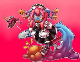 Maid Cteno (late) b-day gift by rap1993