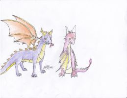 AT-Spyro x Sarisa by EmeraldRainDragon