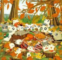 Hamtaro - Thanksgiving by PrincessLacusClyn