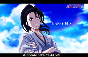 Byakuya smile and happy eid by Magooode