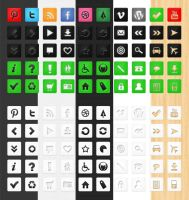 50 Free Die Cut Icons by bestpsdfreebies