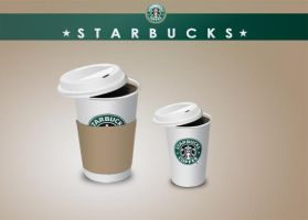 Starbucks coffee icons by benedik