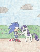 Sonic and Rarity - Love by darkshadow051