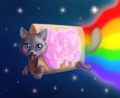 Nyan Cat by LaurenMagpie