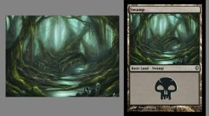 MTG Swamp test by Hachiimon