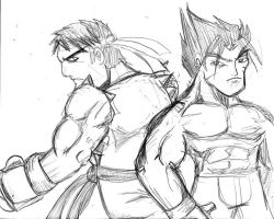 Ryu And Jin by rugdog