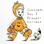 Inktober 2016 Day 3: Collecting Candy by angelaaasketches