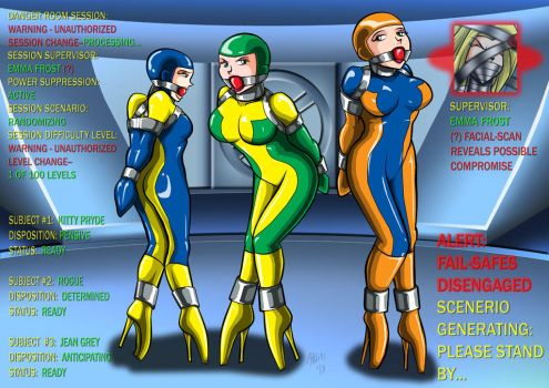 X-Gals' Danger Room Prep by ARNie00