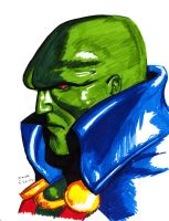 Martian Manhunter sketch by RogueDerek
