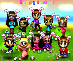 .::Happy Easter 2014-Mii Egg Hunt !::. by Misskatt66