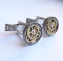 Cufflinks Model Fourteen by AMechanicalMind