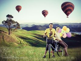 bike and ballon by Rizky-1986