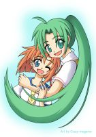 Rena and Mion by Crazy-megame