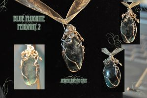 Blue Fluorite Pendant 2 by tanyquil