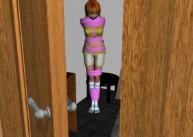 Girl tied up tight, going no- by Saints-Damnation