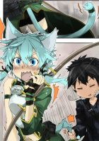 ZS C 001 - Alfheim Online - Sinon and Kirito by zheure