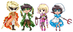 :Fantasystuck: Alpha chibis by BlackMayo