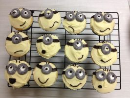 Minions Cupcakes by The-Ice-Flower