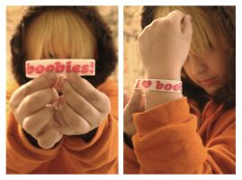 Kenny McCormick Says: I Heart Boobies by II2DII
