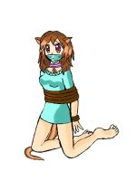 Lillia the otter girl tied up by SuperTailsHero