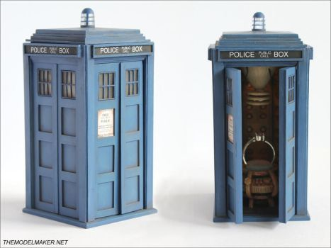 Tardis Engagement Ring Box by artmik