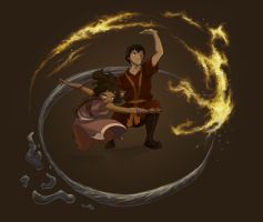 Zuko and Katara by oogalaboo