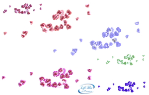 Garlands of hearts - PNG by lifeblue