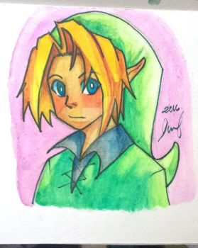 Link Watercolor by RoxasKuroishi